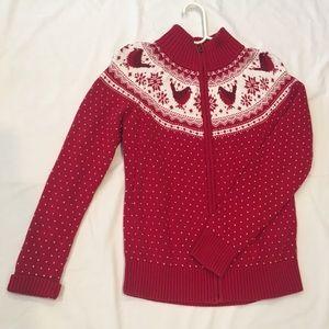Talbots Seasonal 100% Cotton Full-zip Sweater